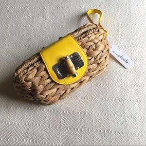 Charming Charlie Straw Wristlet